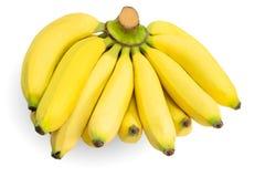 Manojo de plátanos aislados en blanco Fotografía de archivo