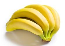 Manojo de plátanos aislados en blanco Imagen de archivo