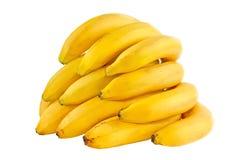 Manojo de plátanos aislados en el fondo blanco Fotografía de archivo
