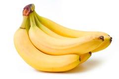Manojo de plátanos maduros aislados en el fondo blanco Fotos de archivo libres de regalías