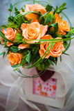 Manojo de rosas Imágenes de archivo libres de regalías