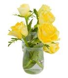 Manojo de rosas amarillas Imagenes de archivo