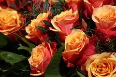 Manojo de rosas del brandy de la cereza Foto de archivo libre de regalías