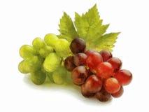 Manojo de uvas blancas y rojas Fotos de archivo