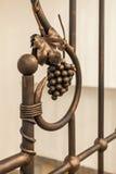 Manojo de uvas y de cazas de las hojas Imagen de archivo