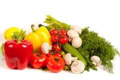 Manojo de verduras frescas Fotos de archivo