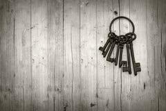 Manojo de viejas llaves Fotografía de archivo libre de regalías