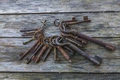 Manojo de viejas llaves Fotografía de archivo