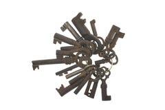 Manojo de viejos claves Fotos de archivo libres de regalías