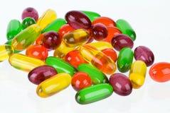 Manojo de vitaminas del gel Fotografía de archivo