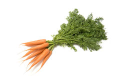 Manojo de zanahorias aisladas Fotos de archivo libres de regalías