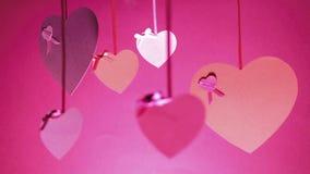 Manojo del fondo de día del ` s de la tarjeta del día de San Valentín de las tarjetas del día de San Valentín metrajes