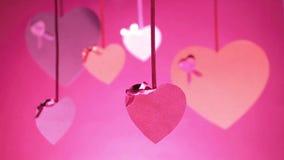 Manojo del fondo de día del ` s de la tarjeta del día de San Valentín de las tarjetas del día de San Valentín almacen de video