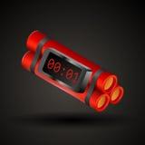 Manojo rojo de la dinamita libre illustration