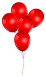 Manojo rojo de los globos stock de ilustración