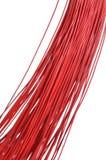 Manojo rojo del cable Fotos de archivo