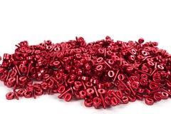 Manojo rojo del por ciento reflejado foto de archivo libre de regalías
