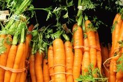 Manojos de zanahorias de bebé frescas Imagen de archivo libre de regalías