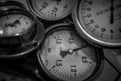 Manomètres sous pression photographie stock