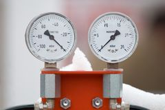 Manometer Stock Foto's
