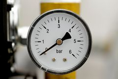 Manometer. Of an air compressor Stock Images