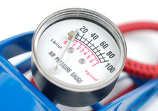 Manometer Of Air Pump Stock Photo