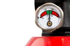 Manometer av en brandsläckare Arkivfoton