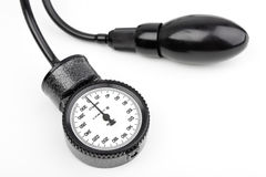 Manometer for blood pressure isolated Royalty Free Stock Photos