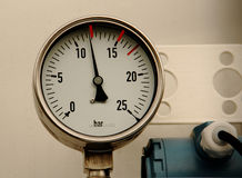 Manometer. A clock for measuring the pressure, indicator Stock Photo