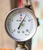 Manometer. Close-up. Geïsoleerd op witte achtergrond. Royalty-vrije Stock Foto