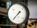 Manometer on grunge background Stock Photo
