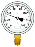 Manometer Royalty Free Stock Images