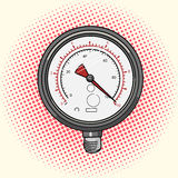 Manometer measuring device comic book  Royalty Free Stock Image