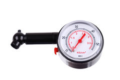 Manometer for measuring tire pressure Royalty Free Stock Photos