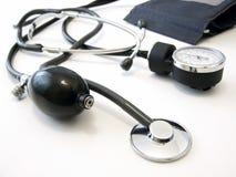 Manometer met stethoscoop Stock Fotografie