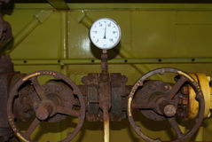 Manometer mit zwei Drucken Stockfotos