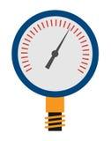 Manometer op witte achtergrond Vector illustratie Royalty-vrije Stock Afbeeldingen
