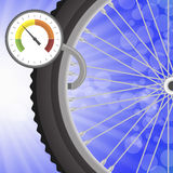 Manometer and Part of Bicycle Wheel Stock Image
