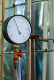 Manometer or pressure gauge at industrial factory.  royalty free stock photos