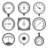 Manometer (pressure gauge) and vacuum gauge icons. Vector illustration royalty free illustration