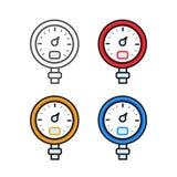 Manometer (pressure gauge) Stock Photo