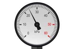 Manometer pressure. Industrial pressure gauge Stock Photo