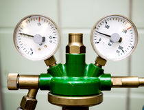 Manometer with reducer. Close up Stock Photography