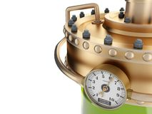 The manometer on refinery station Stock Image