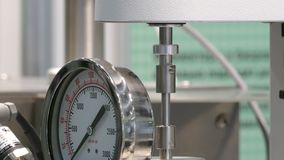 Manometer and rotating tube. In the laboratory stock video