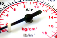 Manometer scale close up Royalty Free Stock Images