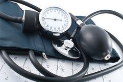 Manometer, stethoscoop Stock Fotografie