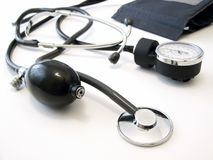 Manometer with stethoscope Stock Photography