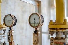 Manometer und Instrument stockfoto