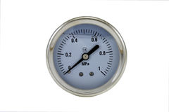 Manometer. Water pressure liquid bar manometer isolated on a white background Stock Images